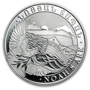 2013 Armenia 5 oz Silver 1000 Drams Noah's Ark