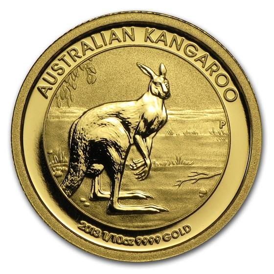 2013 Australia 1/10 oz Gold Kangaroo BU