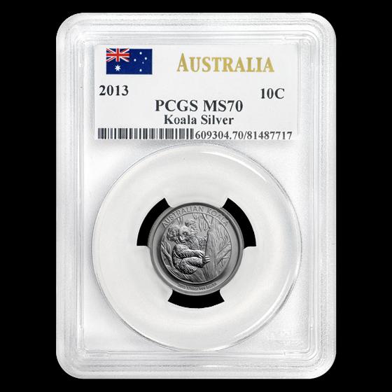 2013 Australia 1/10 oz Silver Koala MS-70 PCGS