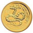 2013 Australia 1/2 oz Gold Lunar Snake BU (Series II)