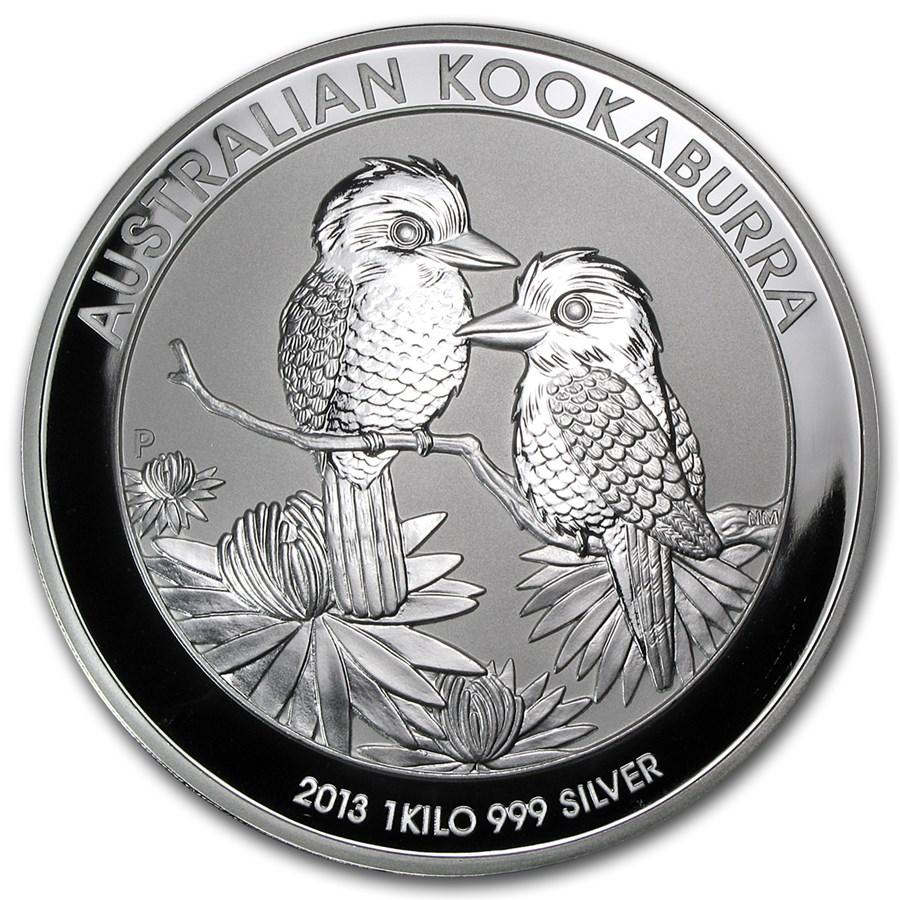 2013 Australia 1 kilo Silver Kookaburra BU