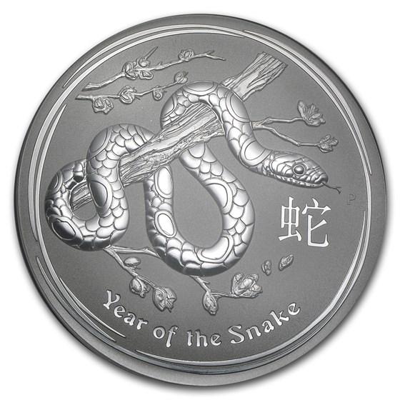 2013 Australia 1 kilo Silver Year of the Snake BU