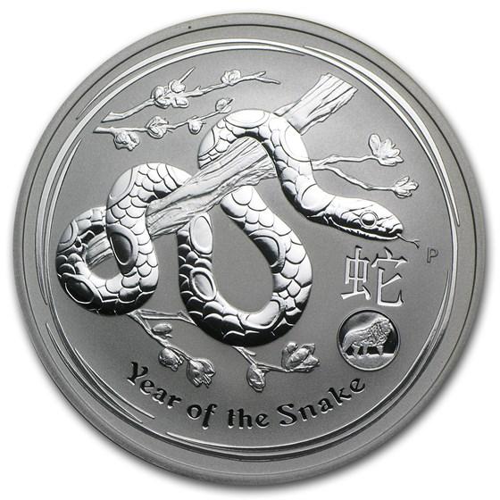 2013 Australia 1 oz Silver Year of the Snake BU (Lion Privy)