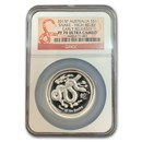 2013 Australia 1 oz Silver Year of the Snake PF-70 UCAM NGC(ER)
