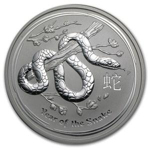 2013 Australia 10 kilo Silver Year of the Snake BU (321.5 oz)