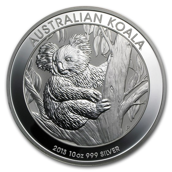 2013 Australia 10 oz Silver Koala BU