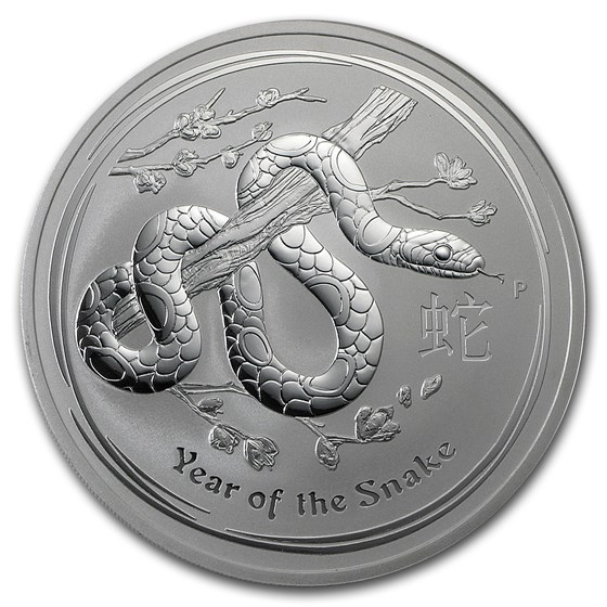 2013 Australia 10 oz Silver Year of the Snake BU
