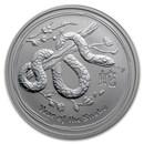 2013 Australia 2 oz Silver Year of the Snake BU