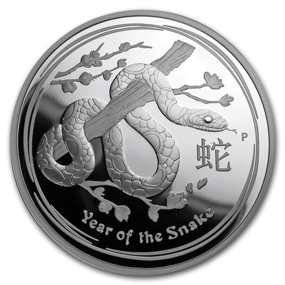 2013 Australia 2 oz Silver Year of the Snake Proof