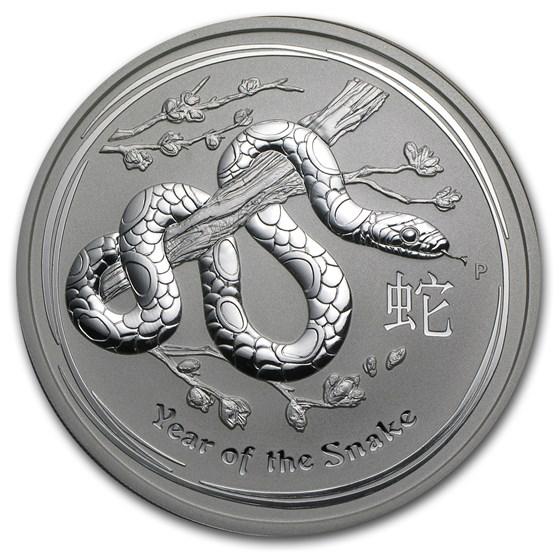 2013 Australia 5 oz Silver Year of the Snake BU