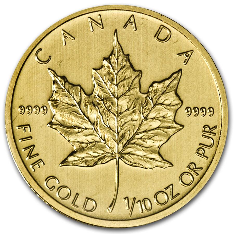 2013 Canada 1/10 oz Gold Maple Leaf BU