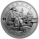 2013 Canada 1/2 oz Silver $10 The Caribou (w/Box & COA)