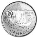 2013 Canada 1/4 oz Silver $20 Iceberg (Coin Only)