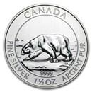 2013 Canada 1.5 oz Silver $8 Polar Bear BU