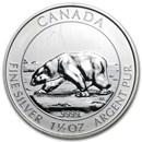 2013 Canada 1.5 oz Silver $8 Polar Bear (Spotted/Dmgd)
