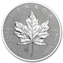 2013 Canada 1 oz Silver Maple Leaf Lunar Snake Privy
