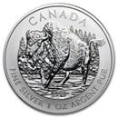 2013 Canada 1 oz Silver Wildlife Series Wood Bison