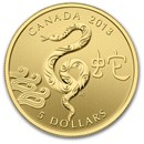 2013 Canada Gold 1/10 oz $5 Snake Proof (w/Box & COA)