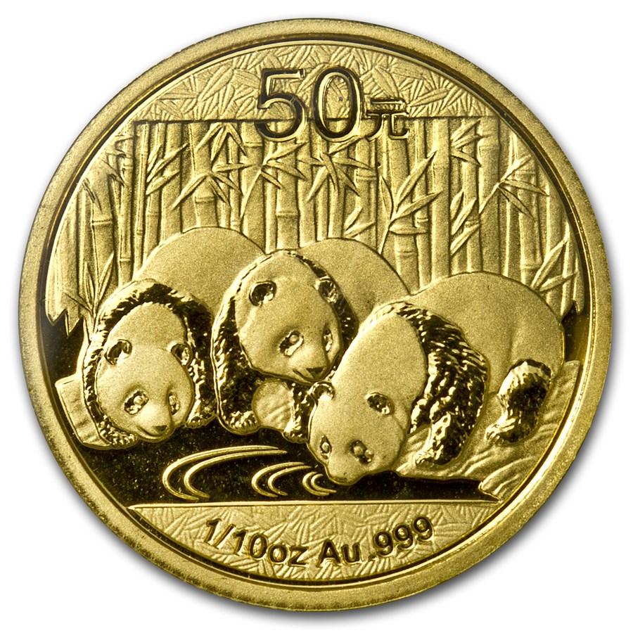 2013 China 1/10 oz Gold Panda BU (Sealed)