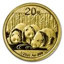 2013 China 1/20 oz Gold Panda BU (Sealed)