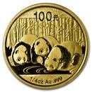 2013 China 1/4 oz Gold Panda BU (Sealed)