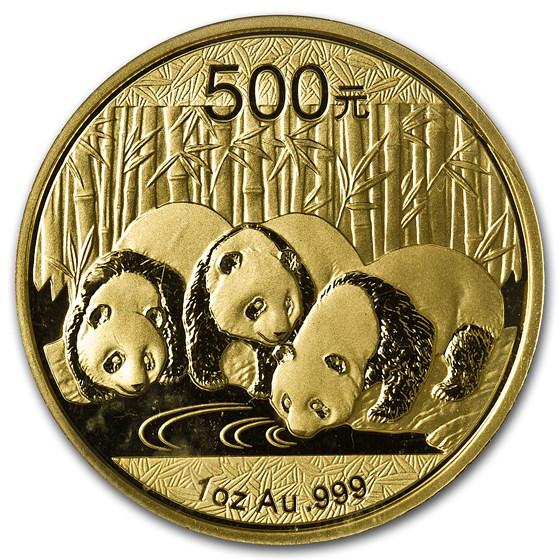2013 China 1 oz Gold Panda BU (Sealed)