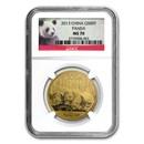 2013 China 1 oz Gold Panda MS-70 NGC