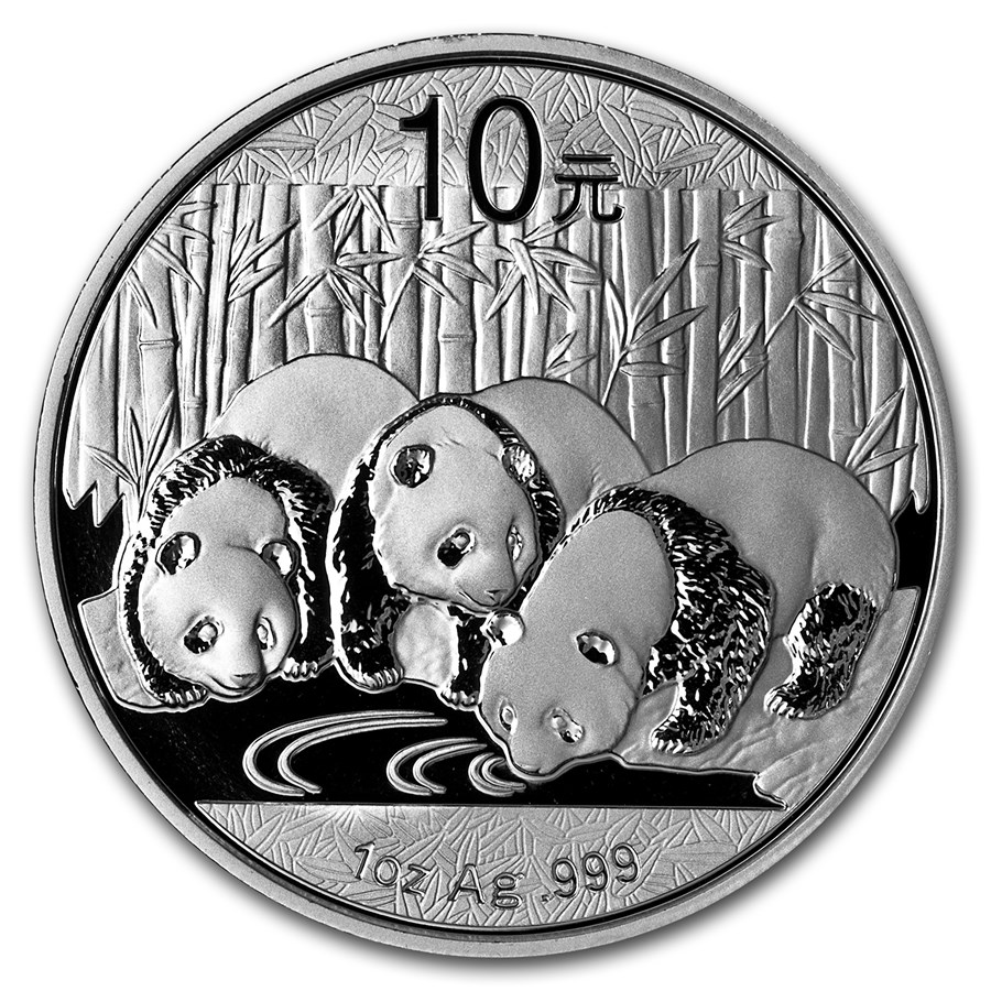 2013 China 1 oz Silver Panda BU (In Capsule)