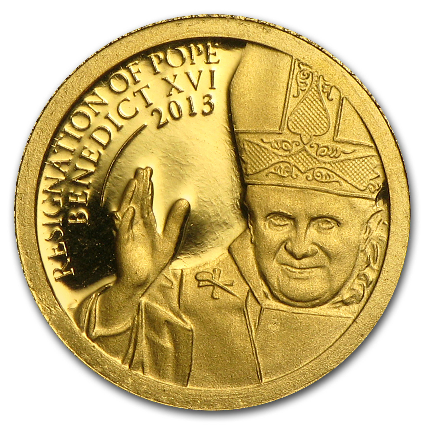 Pope Francis I Gold Proof Cook Islands $1 2013