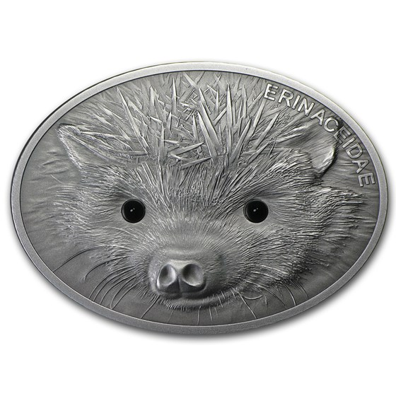 2013 Fiji 1 oz Silver $10 Fascinating Wildlife Hedgehog