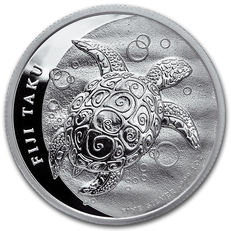 2012 Proof Fiji Turtle British 2 Dollar