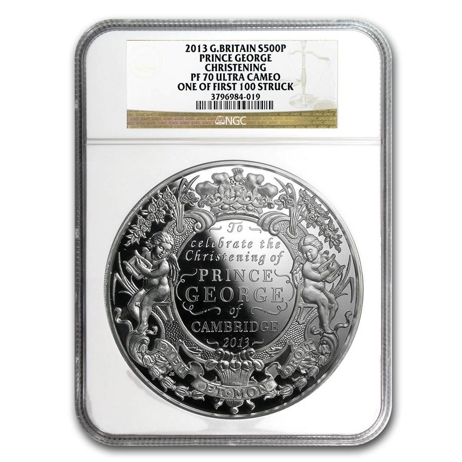 2013 GB Kilo Silver Prince George Christening PF-70 NGC (1st 100)