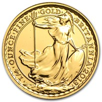 2013 Great Britain 1/4 oz Gold Britannia BU