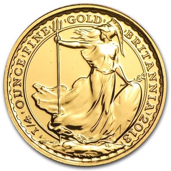 2013 Great Britain 1/4 oz Gold Britannia BU