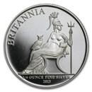 2013 Great Britain 1/4 oz Silver Britannia Proof (Abrasions)