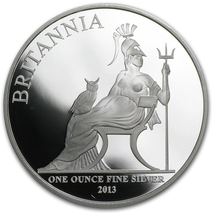 2013 Great Britain 1 oz Silver Britannia Proof