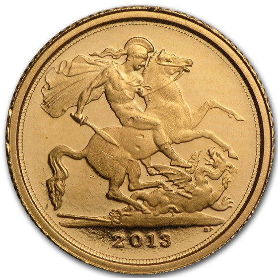 2013 Great Britain Gold 1/4 Sovereign (AGW .05885)