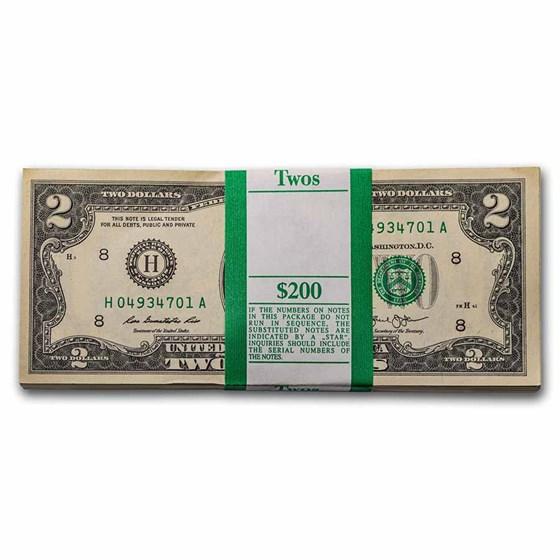 2013 (H-St. Louis) $2.00 FRN CU (Fr#1940-H) 100 Consecutive