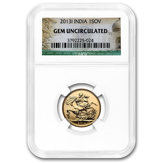 2013-I India Gold Sovereign Gem Uncirculated NGC