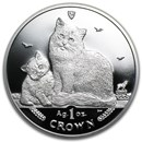 2013 Isle of Man 1 oz Silver Siberian Cat Proof