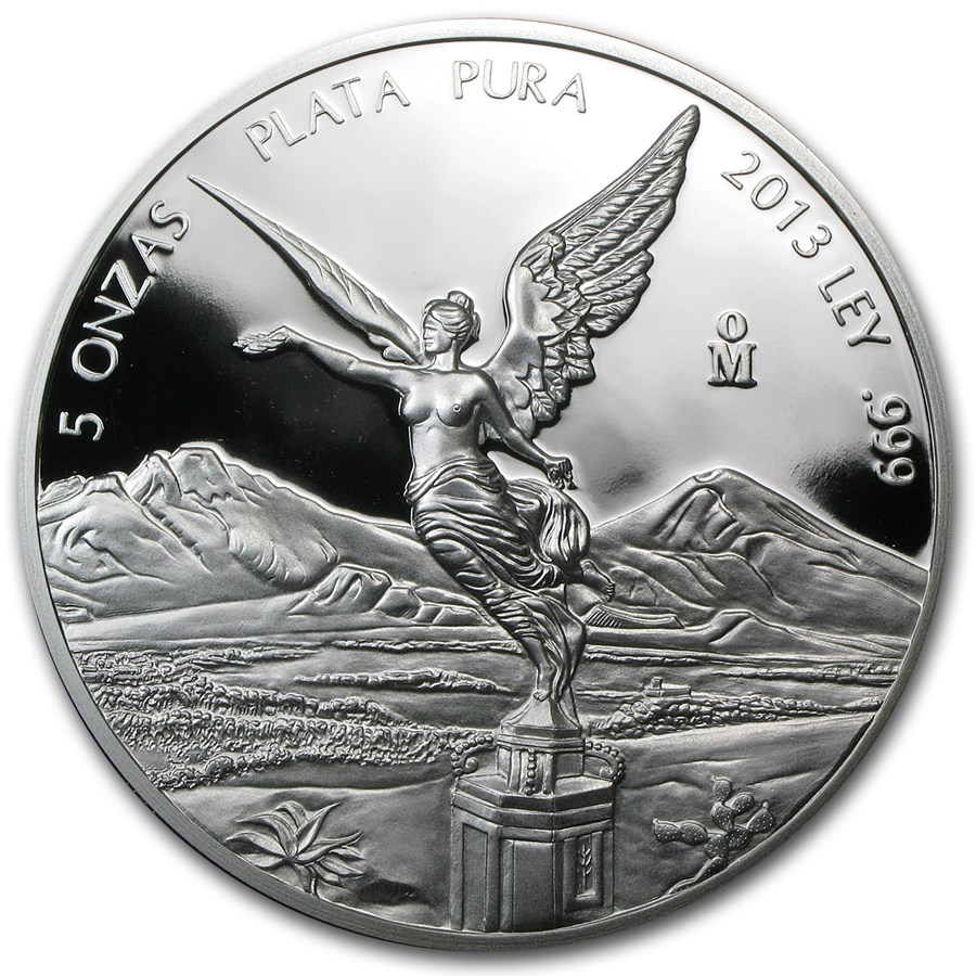 2013 Mexican 5 oz Silver Libertad Proof (In Capsule)