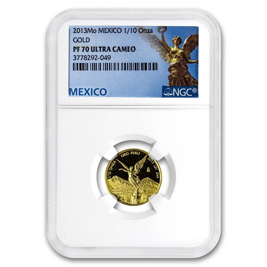 2013 Mexico 1/10 oz Gold Libertad PF-70 NGC