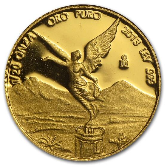 2013 Mexico 1/20 oz Proof Gold Libertad