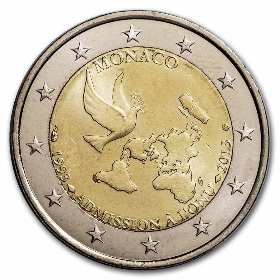2013 Monaco 2 Euro Admission to UN BU