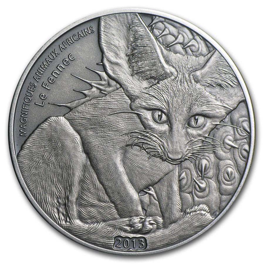 2013 Niger Silver Antique Finish Fennec Fox