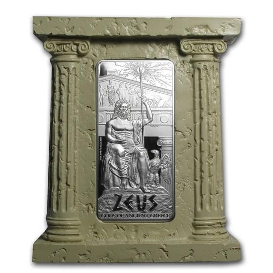 2013 Niue 2 oz Silver $5 Gods of Ancient Greece Proof (Zeus)