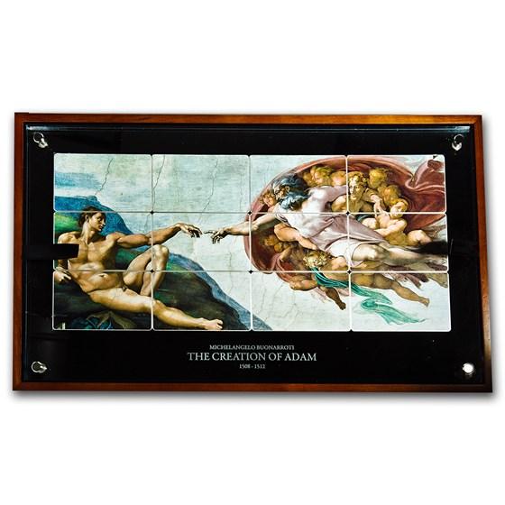2013 Niue Silver Giants of Art The Creation of Adam (30.86 oz)