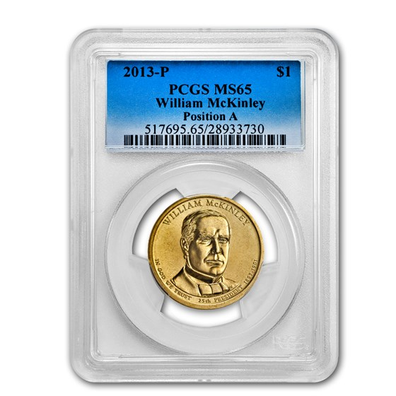 2013-P A Position William McKinley Presidential Dollar MS-65 PCGS