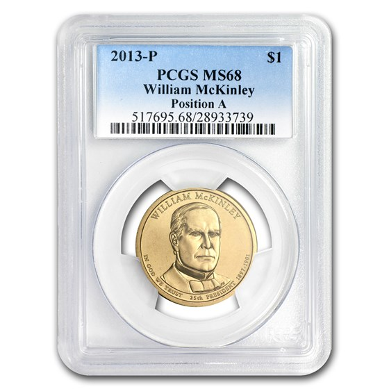 2013-P A Position William McKinley Presidential Dollar MS-68 PCGS