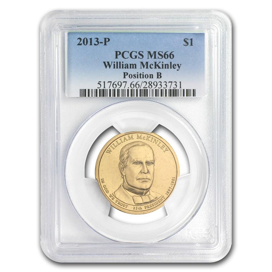 2013-P B Position Wm McKinley Presidential Dollar MS-66 PCGS